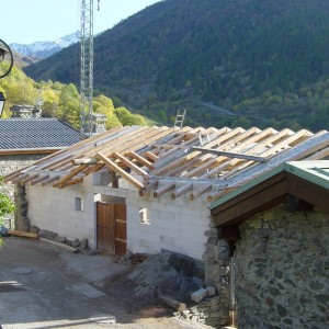 Montage du toit