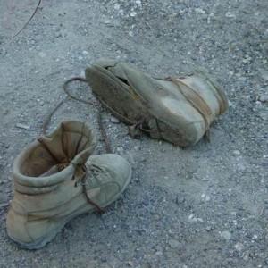 Chaussures usées